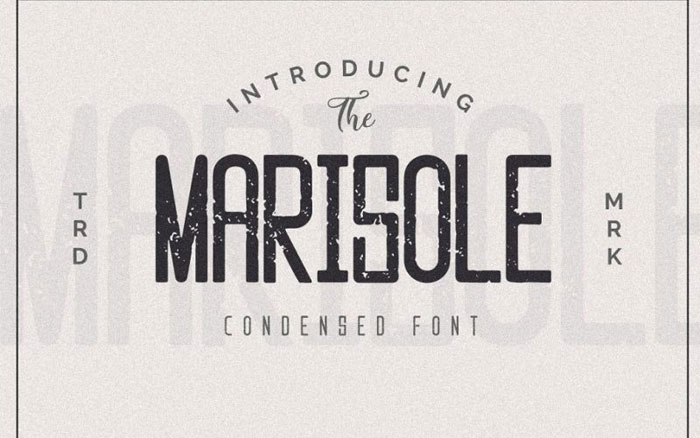 Marisole These condensed fonts were made to impress: Check them out