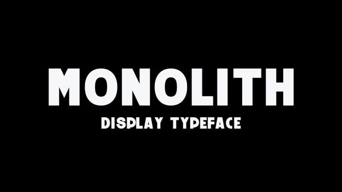 Monolith Awesome movie fonts to create posters and movie titles