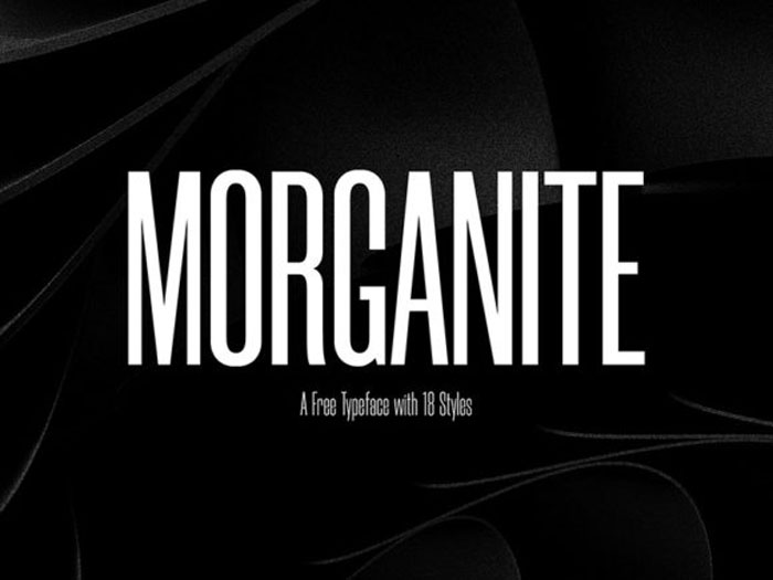 Morganite These condensed fonts were made to impress: Check them out