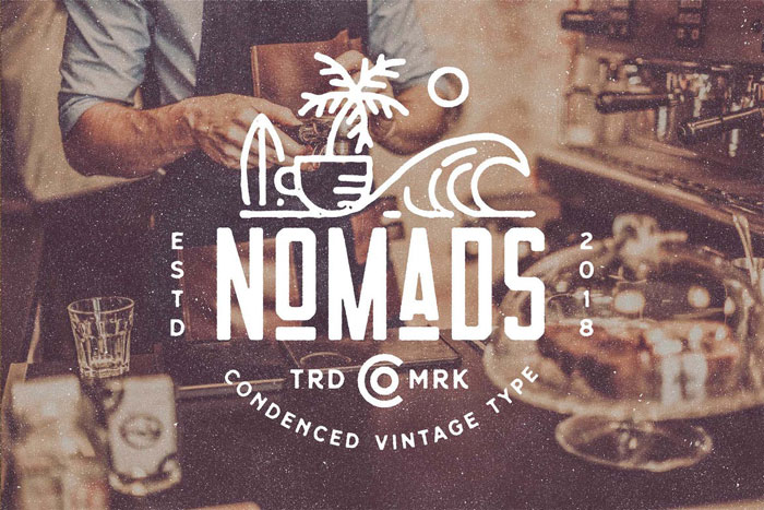 Nomads These condensed fonts were made to impress: Check them out