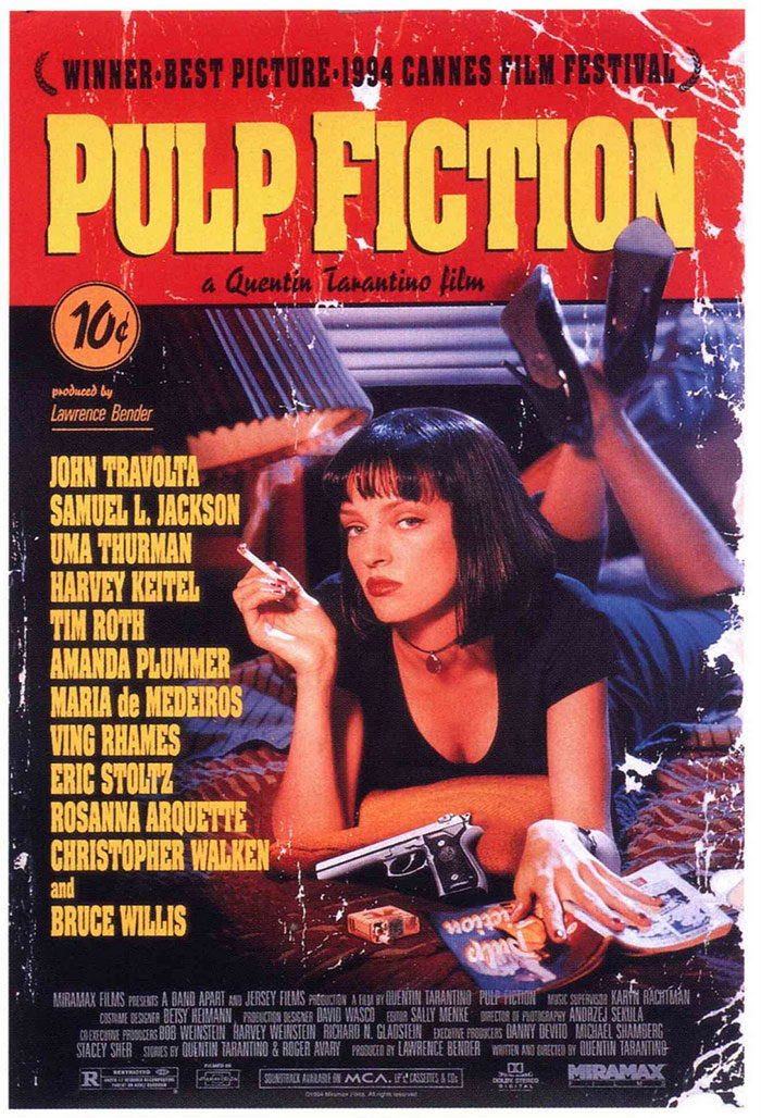 PULP-FICTION-700x1028 The best movie posters: Hand picked designs you should check out