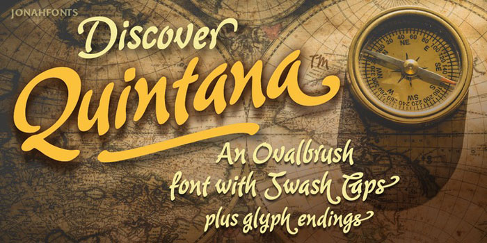 Quintana Awesome movie fonts to create posters and movie titles