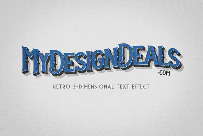 Retro-3D-effect Photoshop 3D text tutorials you should check out