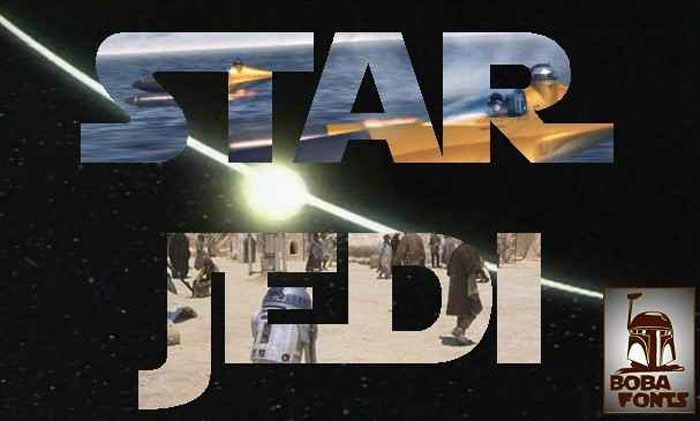 Star-Jedi Awesome movie fonts to create posters and movie titles
