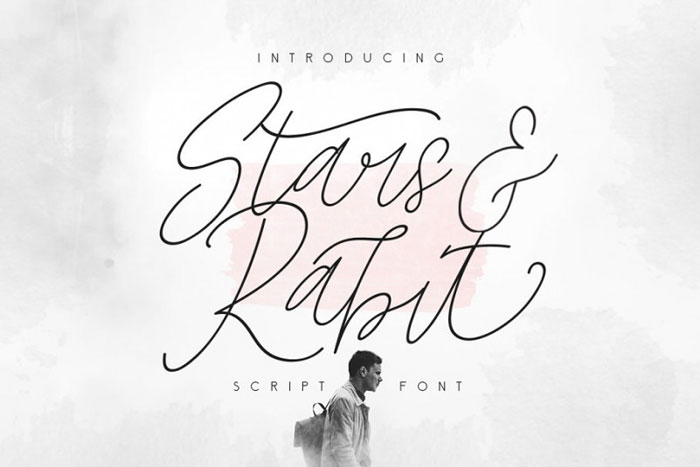 Stars-and-rabit Awesome movie fonts to create posters and movie titles
