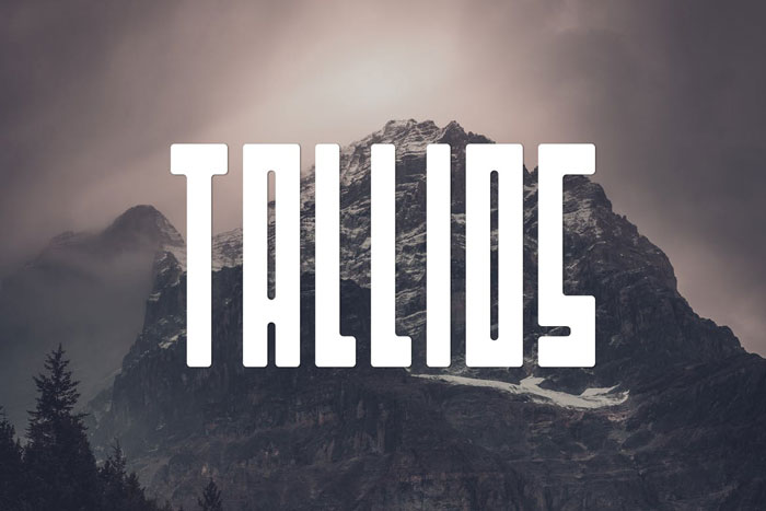 Tallios These condensed fonts were made to impress: Check them out