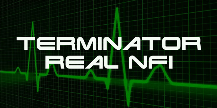 Terminator-real-nfi Awesome movie fonts to create posters and movie titles