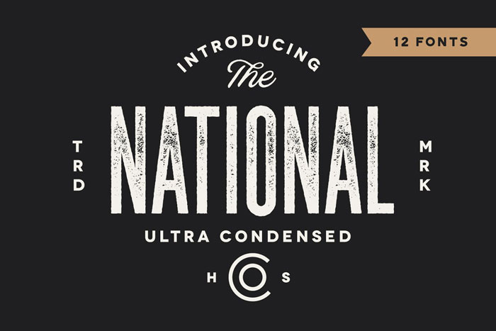 The-National These condensed fonts were made to impress: Check them out