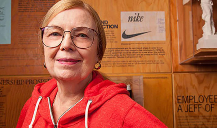 Who-is-Carolyn-Davidson-700x413 The Nike logo (symbol) and the history behind its simple design