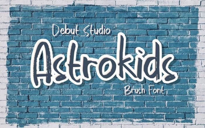 astrokids-brush-700x438 Fun happy birthday fonts you can download with a click