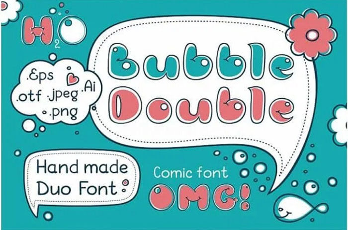 bubble-double-700x463 Fun happy birthday fonts you can download with a click