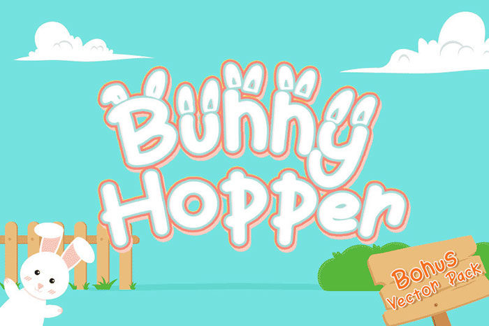 bunnyhoper-700x466 Fun happy birthday fonts you can download with a click