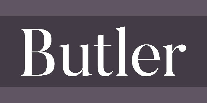 butler-700x350 Cool magazine fonts you should consider for editorial design