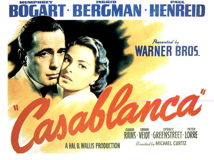 casablanca-700x525 The best movie posters: Hand picked designs you should check out