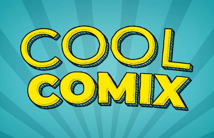 cool-comix Photoshop 3D text tutorials you should check out