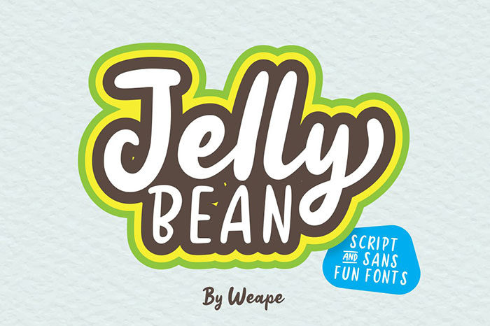 jellybean-700x466 Fun happy birthday fonts you can download with a click
