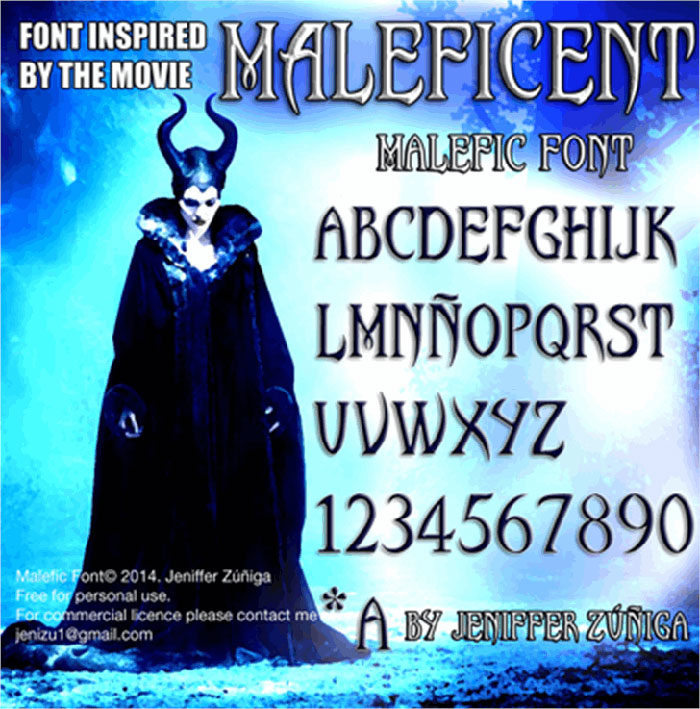 malefic-700x709 Free Disney fonts: Enter the Mickey Mouse club with these quirky fonts