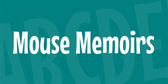 mouse-memoirs-700x350 Free Disney fonts: Enter the Mickey Mouse club with these quirky fonts