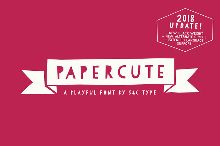 papercute-700x467 Fun happy birthday fonts you can download with a click