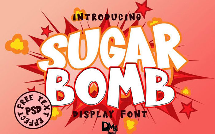 sugar-bomb-700x438 Fun happy birthday fonts you can download with a click