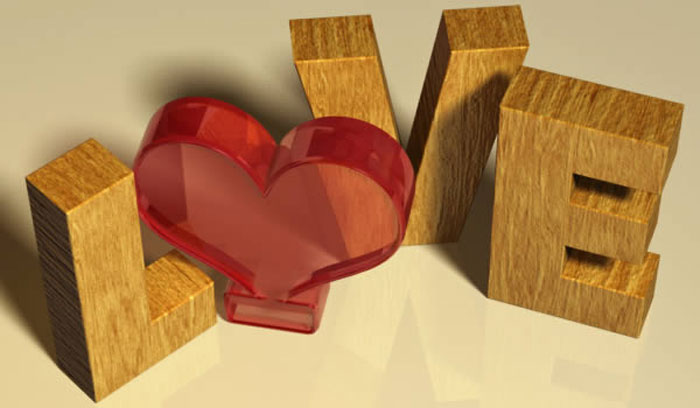 valentine-day Photoshop 3D text tutorials you should check out