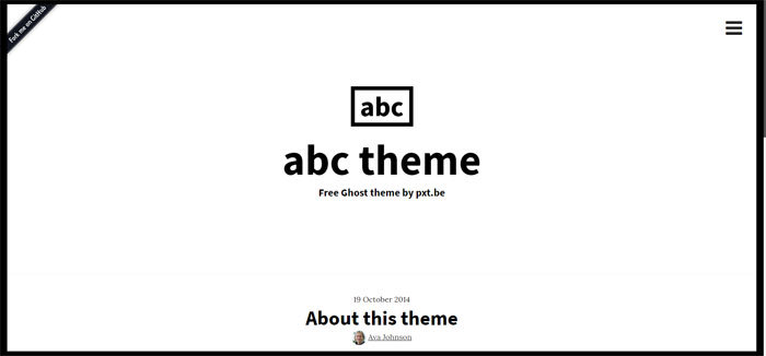 ABC Ghost template examples and themes, you should check out