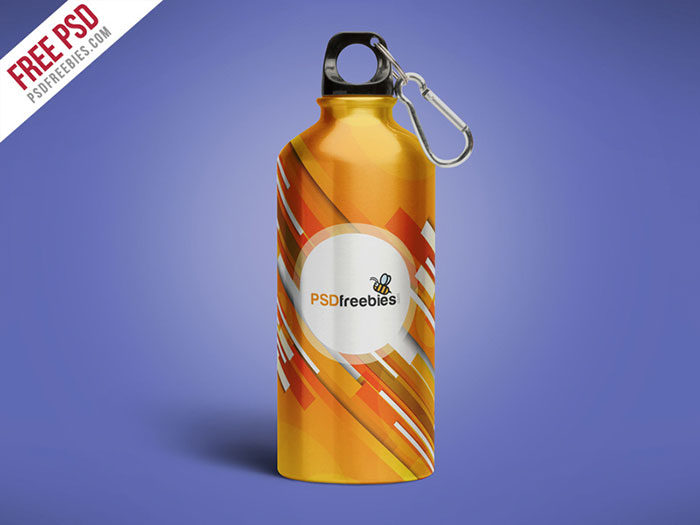 Aluminum-Water-Bottle-Free-700x525 Download a water bottle mockup from these templates