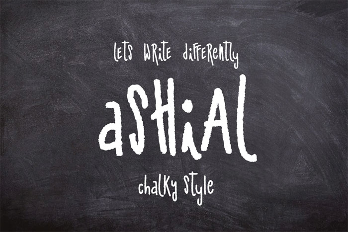 Ashial Chalkboard font collection: Check out these cool looking fonts