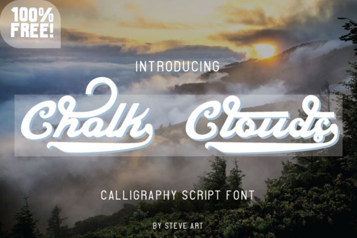 Chalk-Clouds Chalkboard font collection: Check out these cool looking fonts