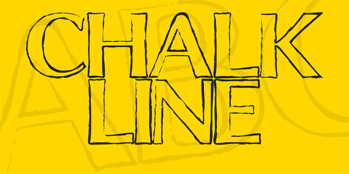 Chalk-Line-outline Chalkboard font collection: Check out these cool looking fonts