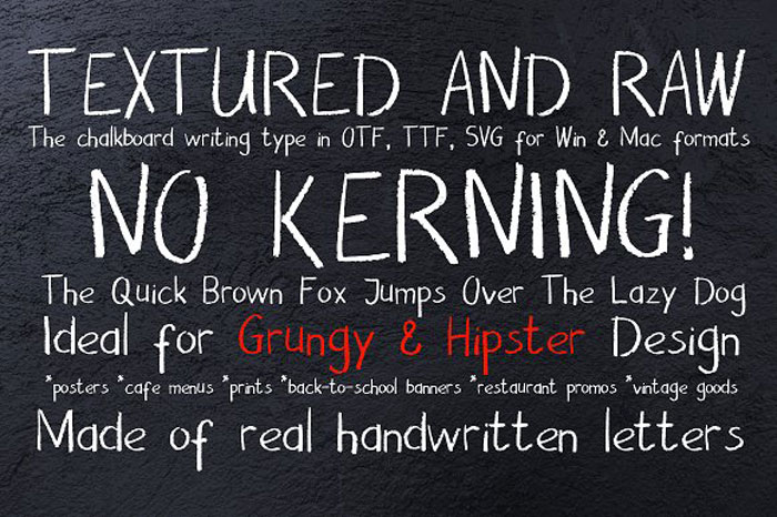 Chalk-and-pencil Chalkboard font collection: Check out these cool looking fonts