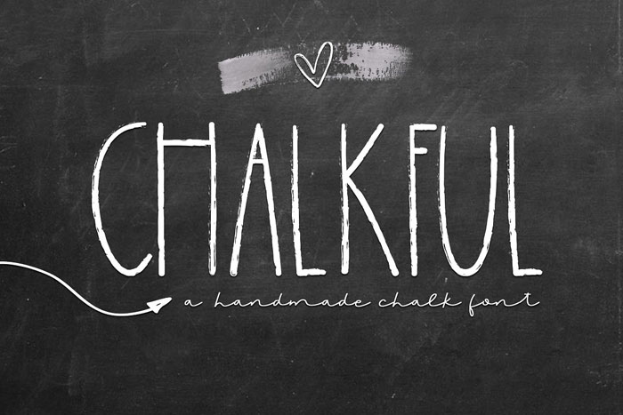 Chalkful Chalkboard font collection: Check out these cool looking fonts