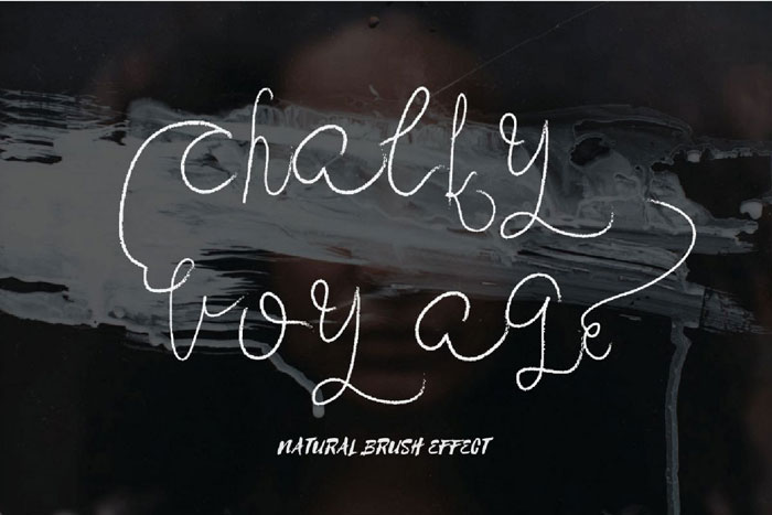 Chalky-voyage Chalkboard font collection: Check out these cool looking fonts