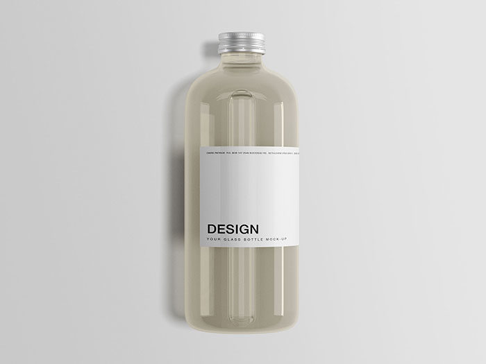 Classic-Glass-Bottle-PSD-700x525 Download a water bottle mockup from these templates