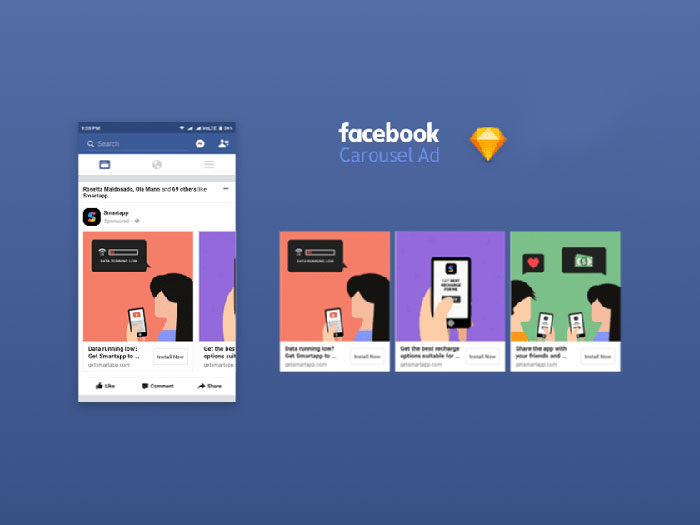 Facebook-App-Ad-Carousel-Mocku-700x525 Facebook mockup templates: Download these cool mockups