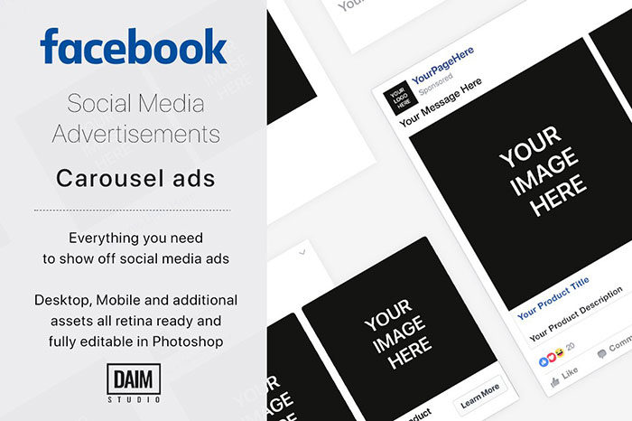Facebook-Carousel-Ad-Your-carousel-700x466 Facebook mockup templates: Download these cool mockups