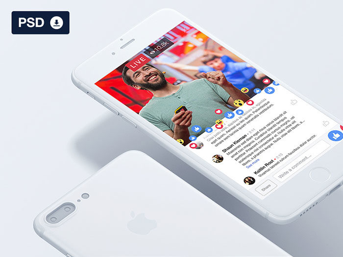 Facebook-Live-UI-700x525 Facebook mockup templates: Download these cool mockups