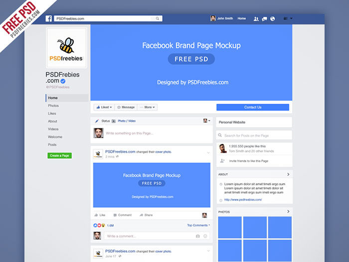 Facebook-New-Brand-Page-Mockup-Psd-700x525 Facebook mockup templates: Download these cool mockups