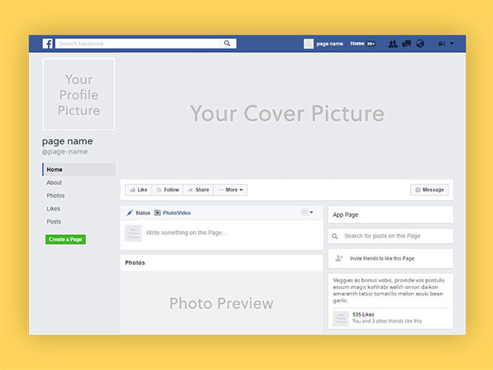 Facebook-Page-Mockup-A-package-with-the-essentials-700x525 Facebook mockup templates: Download these cool mockups