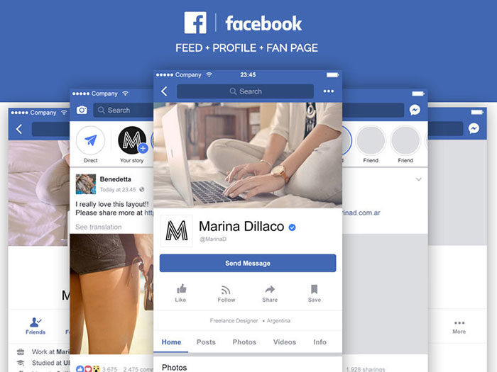 Free-Facebook-Mobile-Layout-PSD-700x525 Facebook mockup templates: Download these cool mockups