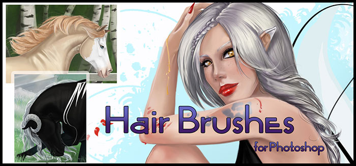 Photoshop hair brushes you can download: Free and premium options