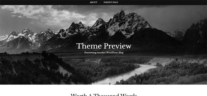 Landscape Ghost template examples and themes, you should check out
