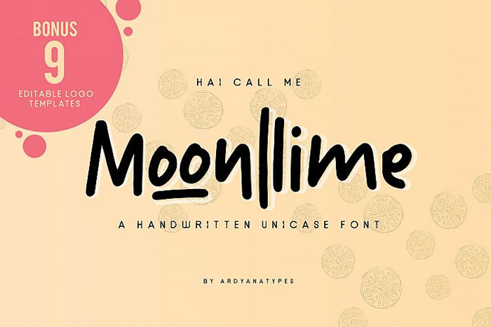 Moonlime Chalkboard font collection: Check out these cool looking fonts