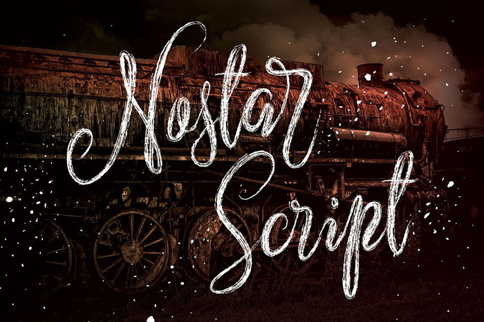 Nostar-script Chalkboard font collection: Check out these cool looking fonts