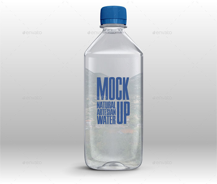 Plastic-Water-Bottle-Mockup-700x594 Download a water bottle mockup from these templates