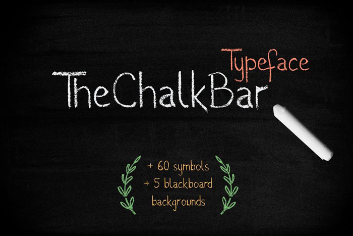 The-Chalk-bar Chalkboard font collection: Check out these cool looking fonts