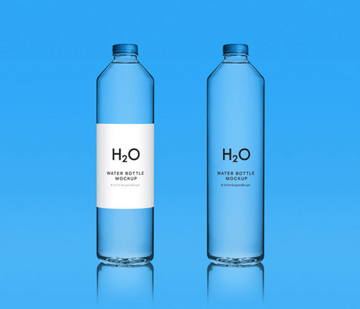 Water-Bottle-MockUp-700x602 Download a water bottle mockup from these templates