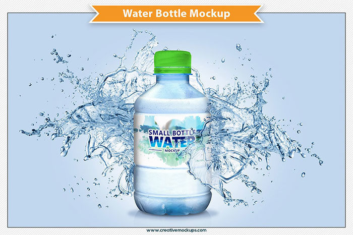 Water-Bottle-Mockup-350ml-700x466 Download a water bottle mockup from these templates