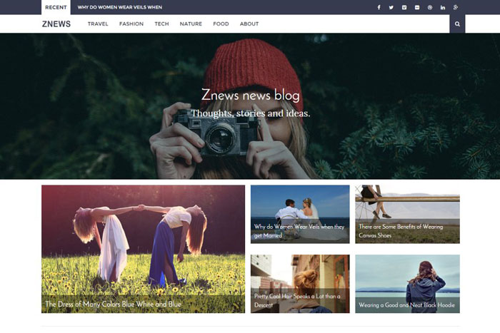 Znews Ghost template examples and themes, you should check out