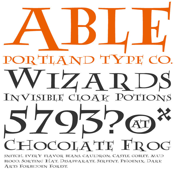 able-700x700 Pick your favorite Harry Potter font out of these options
